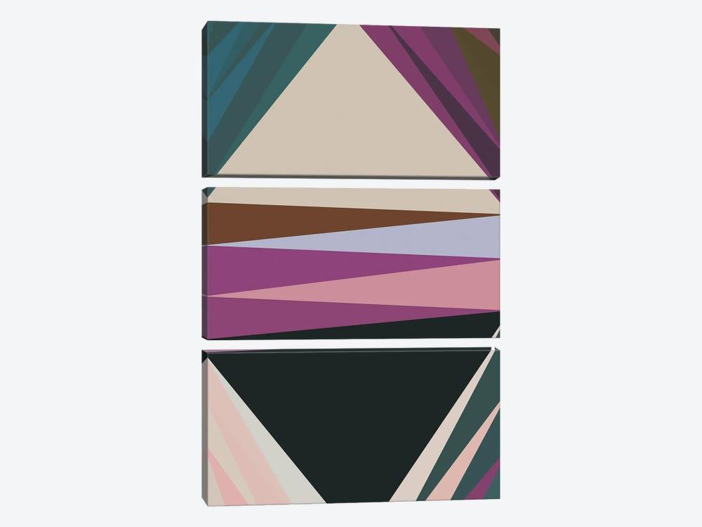 Pointed Shapes IV by Angel Estevez 3-piece Art Print