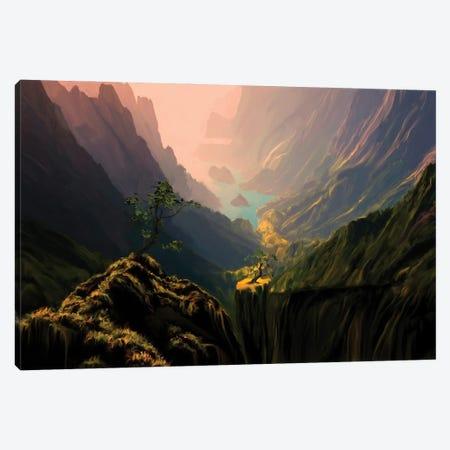 Green Canyons Canvas Print #AEZ22} by Angel Estevez Art Print