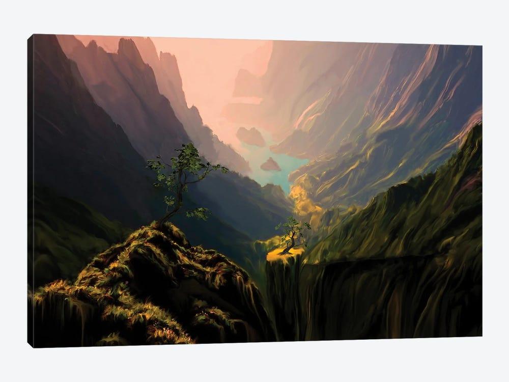 Green Canyons by Angel Estevez 1-piece Canvas Art Print
