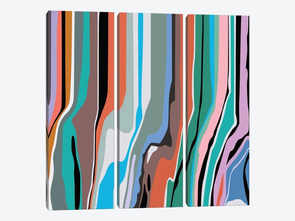 Ripples IV by Angel Estevez 3-piece Canvas Wall Art