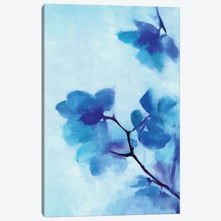 Blue Floral Canvas Print #AEZ233} by Angel Estevez Canvas Wall Art