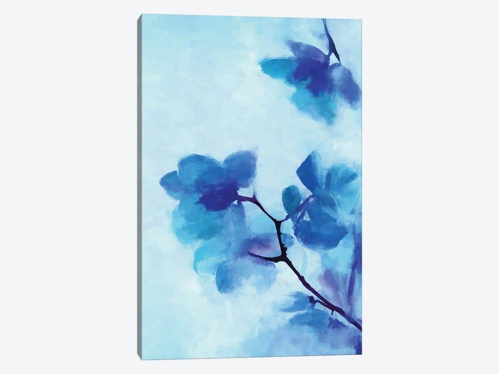 Blue Floral by Angel Estevez 1-piece Canvas Art