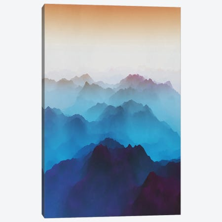 Mountains Under Bluish Fog Canvas Print #AEZ250} by Angel Estevez Canvas Artwork