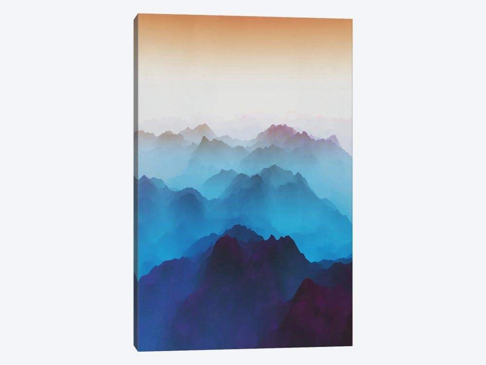 Mountains Under Bluish Fog by Angel Estevez 1-piece Art Print