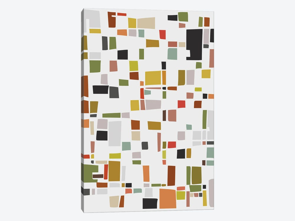 Color and Shapes Game by Angel Estevez 1-piece Canvas Art Print