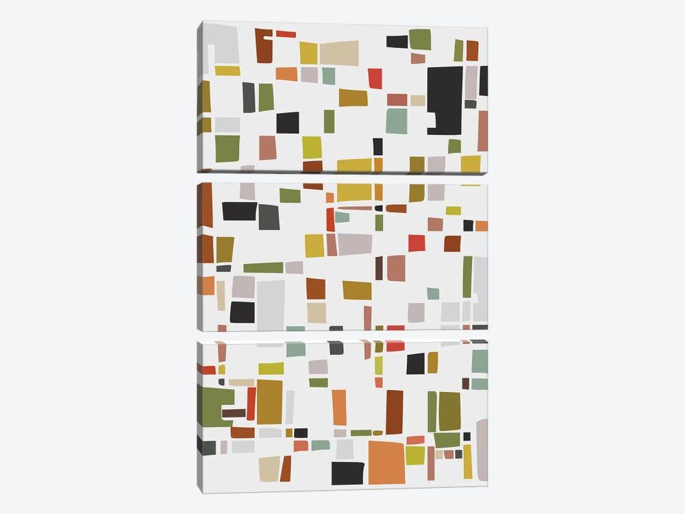 Color and Shapes Game by Angel Estevez 3-piece Canvas Art Print