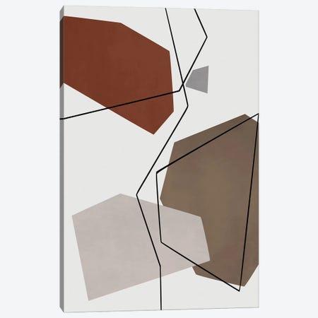 Minimal In Gray, Beige And Brown Canvas Print #AEZ270} by Angel Estevez Canvas Artwork
