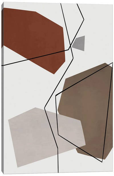 Minimal In Gray, Beige And Brown Canvas Art Print