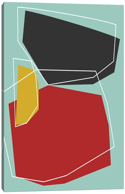 Minimal In Red, Black And Yellow Canvas Art Print