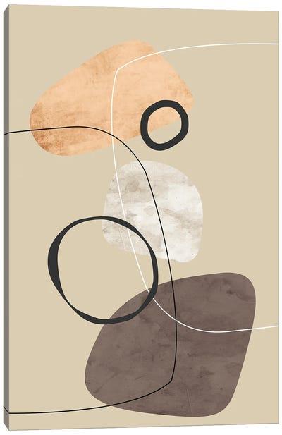 Minimal with Black Circles Canvas Art Print
