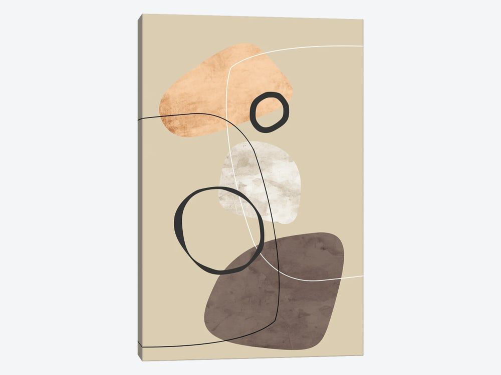 Minimal with Black Circles by Angel Estevez 1-piece Canvas Art Print