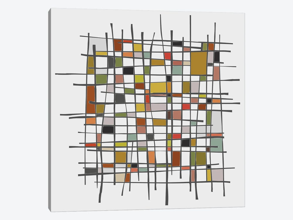 Mondrian Wink by Angel Estevez 1-piece Canvas Art