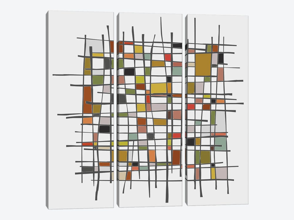 Mondrian Wink by Angel Estevez 3-piece Canvas Art