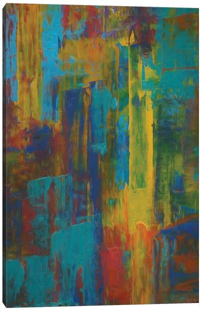 Vertical Brushes Canvas Art Print