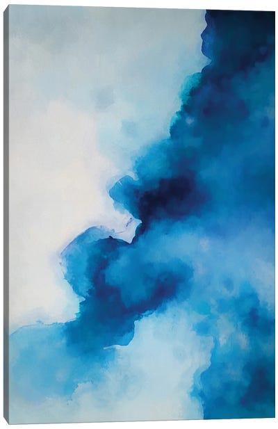 Blue Ink Canvas Art Print