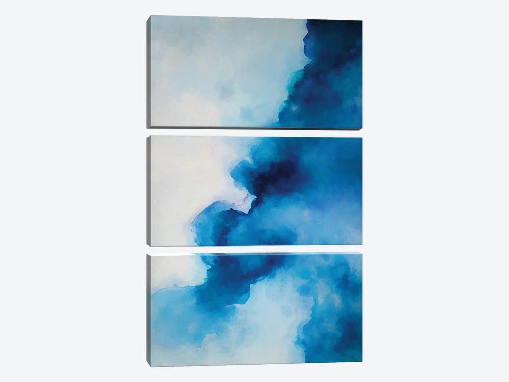 Blue Ink by Angel Estevez 3-piece Canvas Print