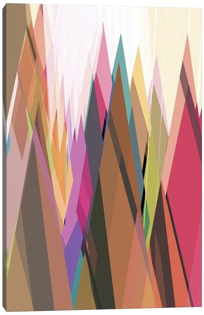 Colored Peaks Canvas Art Print