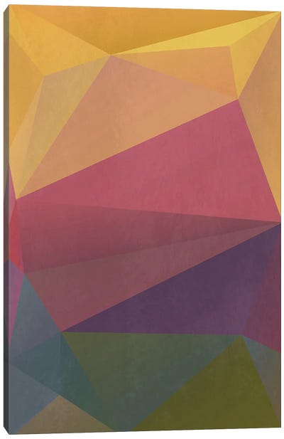 Interconnected Triangles I Canvas Art Print