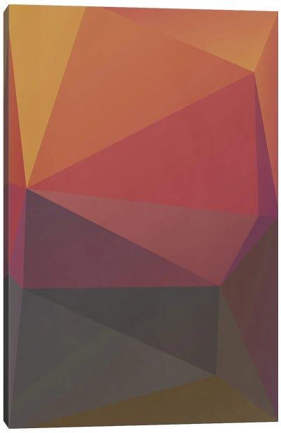 Interconnected Triangles III Canvas Art Print