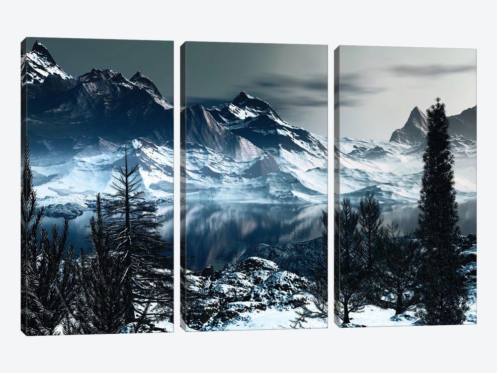 Majestic Mountains by Angel Estevez 3-piece Canvas Artwork