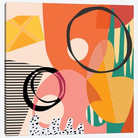 Meeting Of Shapes And Patterns Canvas Print #AEZ302} by Angel Estevez Canvas Art