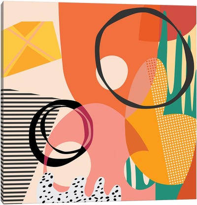 Meeting Of Shapes And Patterns Canvas Art Print