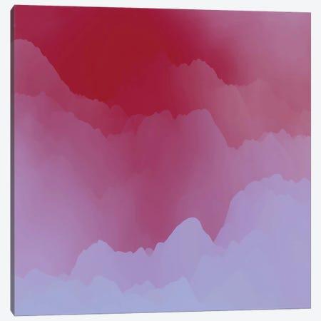 Mountains Under Pink Mist Canvas Print #AEZ316} by Angel Estevez Canvas Artwork