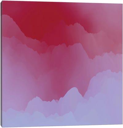 Mountains Under Pink Mist Canvas Art Print