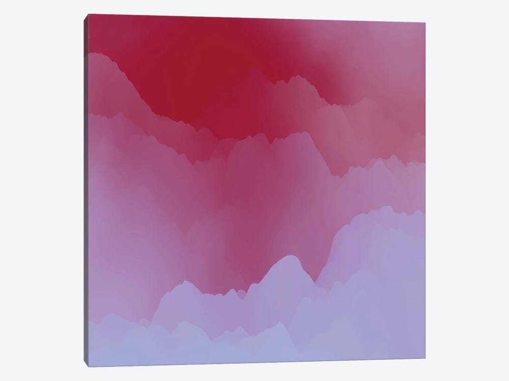 Mountains Under Pink Mist by Angel Estevez 1-piece Canvas Artwork