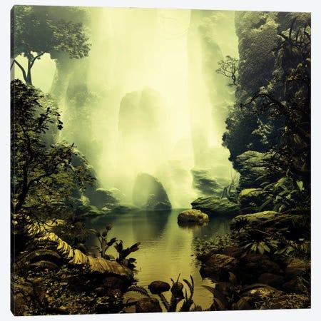 Misty Pond Canvas Print #AEZ31} by Angel Estevez Canvas Art