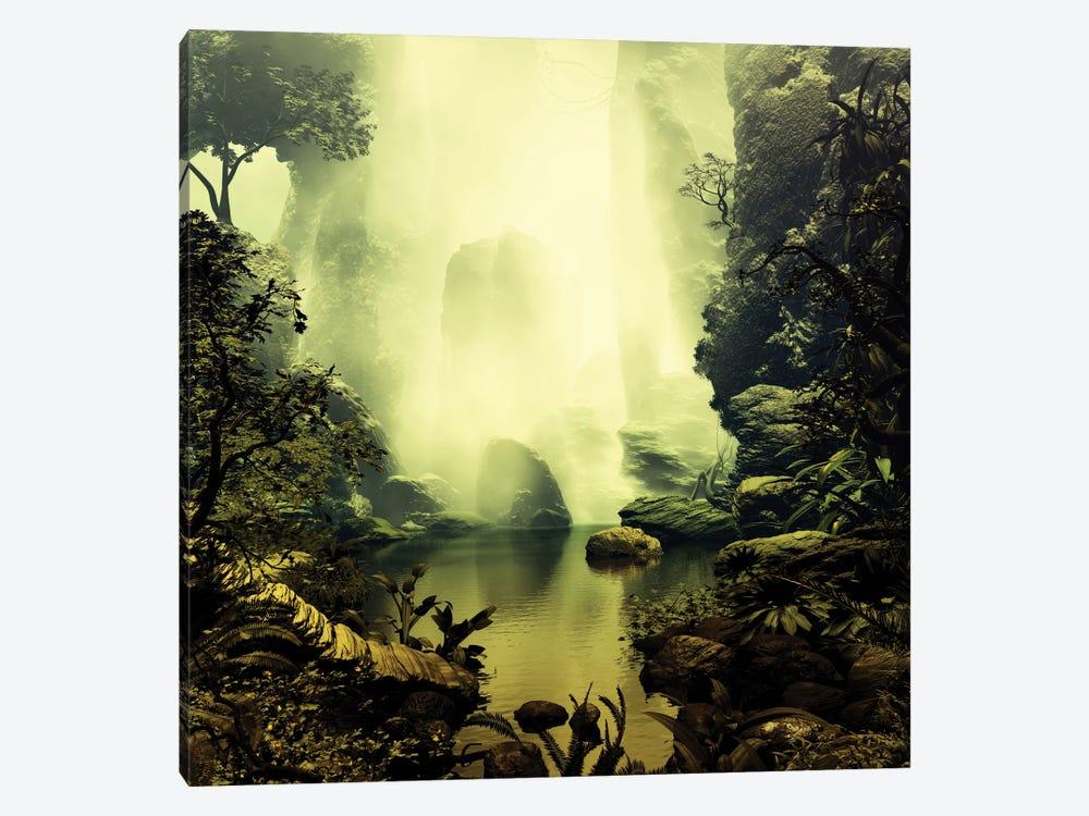 Misty Pond by Angel Estevez 1-piece Canvas Art Print