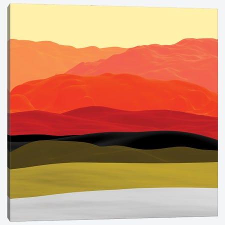 Mountains In Gradient Canvas Print #AEZ32} by Angel Estevez Canvas Artwork