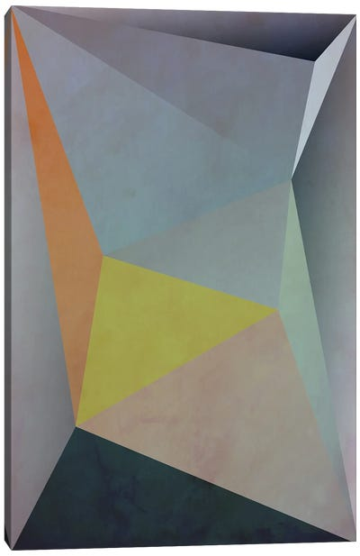 Interconnected Triangles V Canvas Art Print