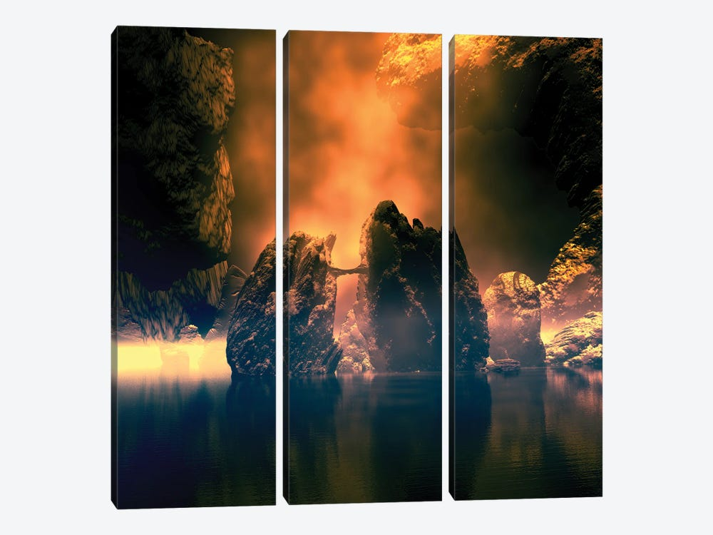 Mystical Gleam by Angel Estevez 3-piece Art Print