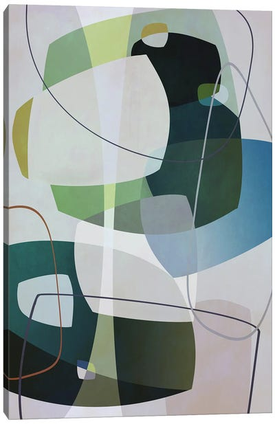 Overlapping Parts And Transparencies Canvas Art Print