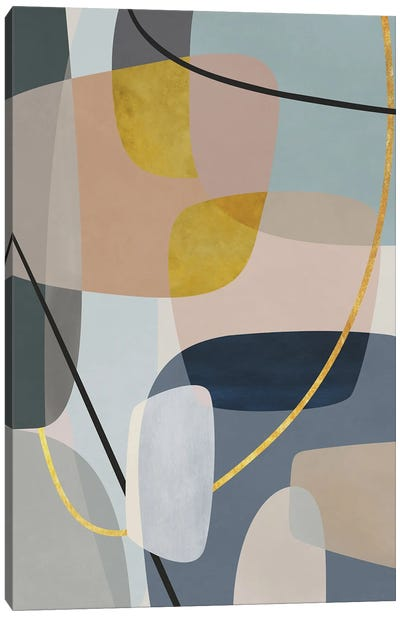 Overlapping Parts And Transparencies III Canvas Art Print