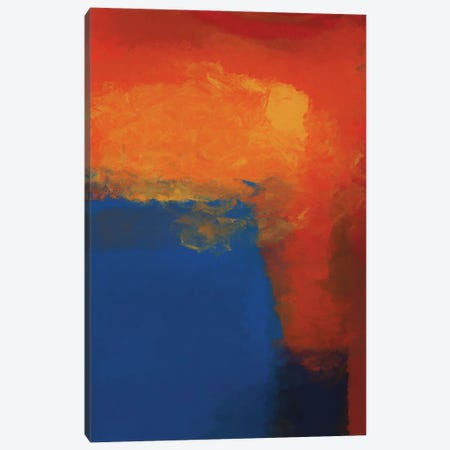 Red, Blue And A Little Bit Of Black And Yellow Canvas Print #AEZ371} by Angel Estevez Art Print