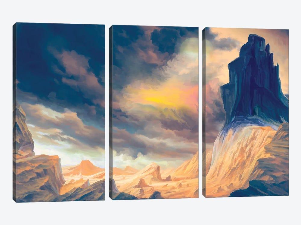 Oniric Landscape by Angel Estevez 3-piece Canvas Art Print