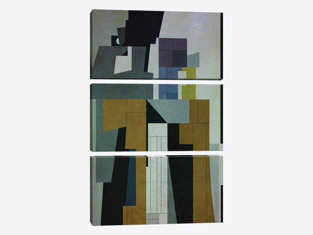 Buildings II by Angel Estevez 3-piece Canvas Art Print