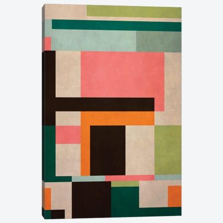 Geometric Pattern With Rectangles Canvas Print #AEZ399} by Angel Estevez Art Print