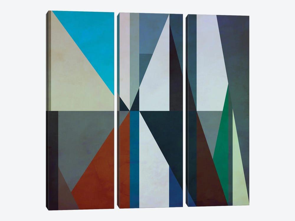 Geometric Pattern With Triangles by Angel Estevez 3-piece Canvas Wall Art