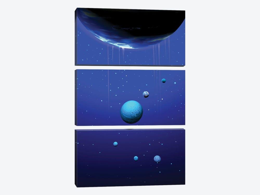 Planets by Angel Estevez 3-piece Canvas Print