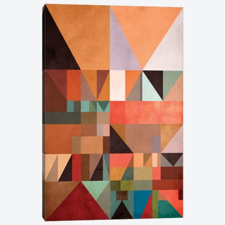 Triangles And Rectangles III Canvas Print #AEZ413} by Angel Estevez Canvas Artwork