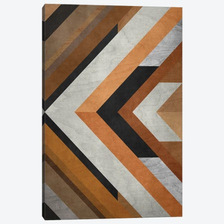 Wood Geometric Pattern Canvas Print #AEZ414} by Angel Estevez Art Print