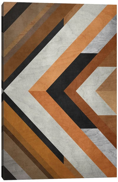 Wood Geometric Pattern Canvas Art Print