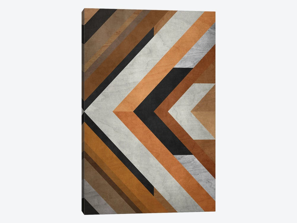 Wood Geometric Pattern by Angel Estevez 1-piece Canvas Print