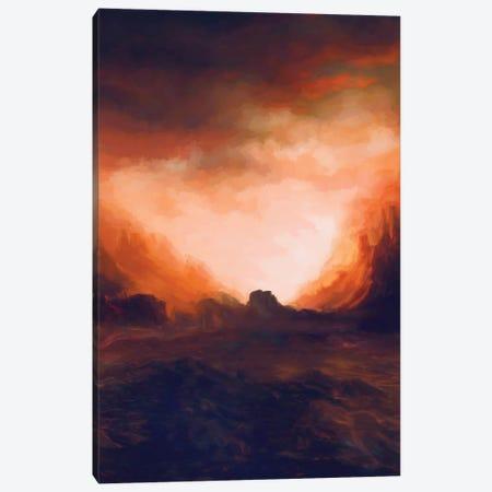 Red Mountains II Canvas Print #AEZ44} by Angel Estevez Canvas Artwork