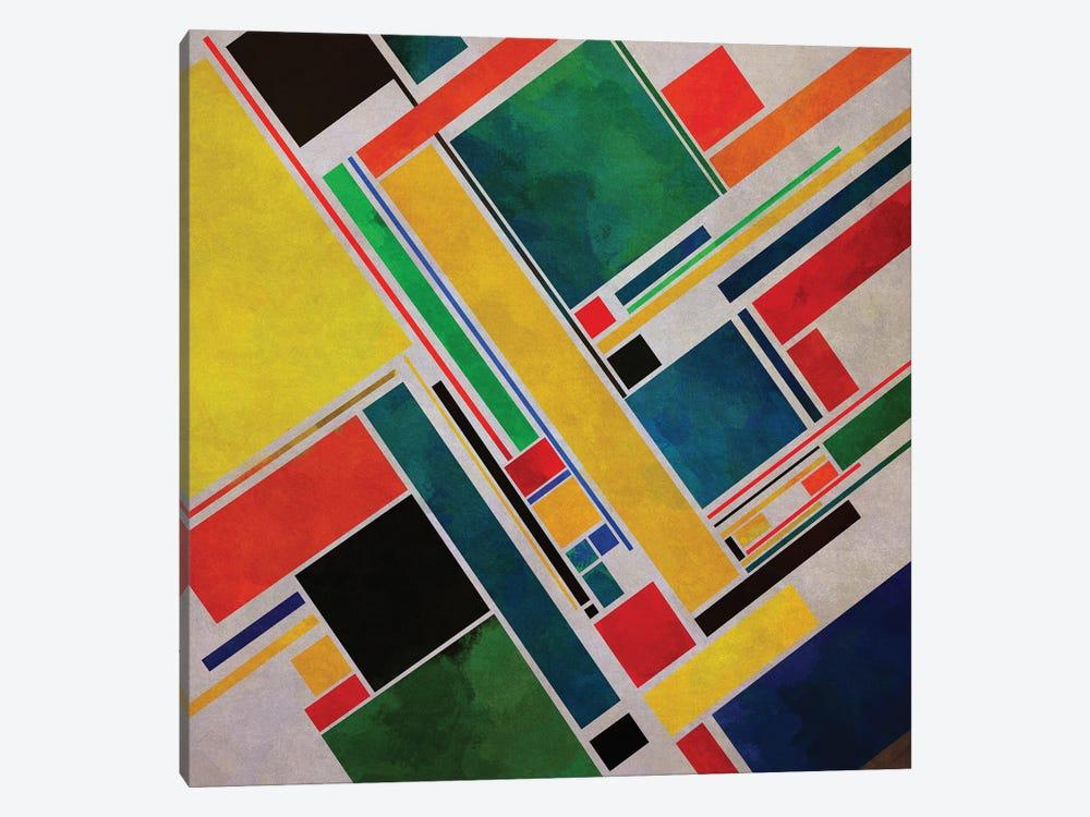 Diagonal Geometry II by Angel Estevez 1-piece Canvas Artwork