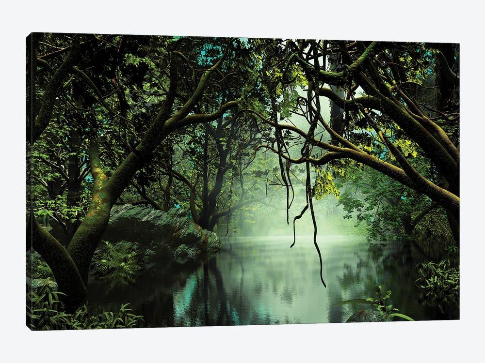River In The Jungle by Angel Estevez 1-piece Canvas Art