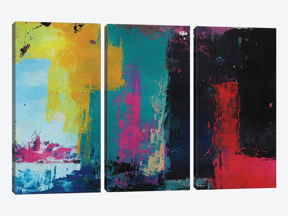 Rustic Geometric III by Angel Estevez 3-piece Canvas Print